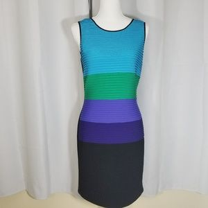 Calvin Klein Cool Colors Colorblock Sheath Dress 8